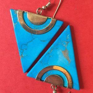 Jewelry - Vintage turquoise earrings